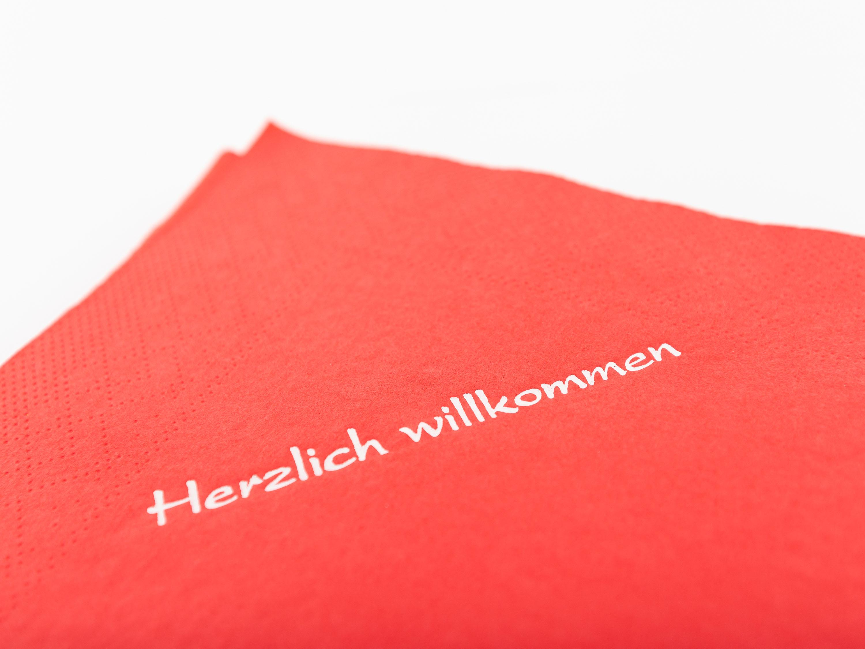 """Papierservietten """"Herzlich ..."""