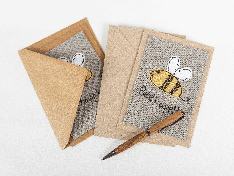 Karte Bee happy
