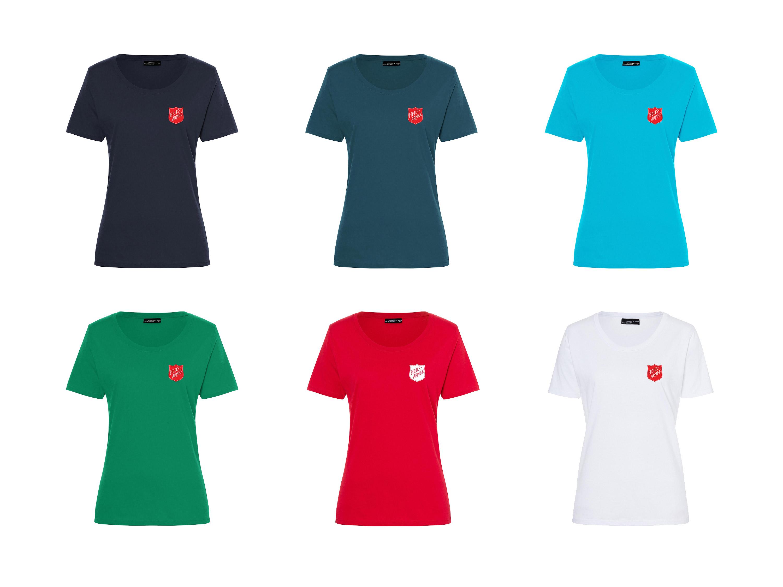 T-shirt col rond pour dames