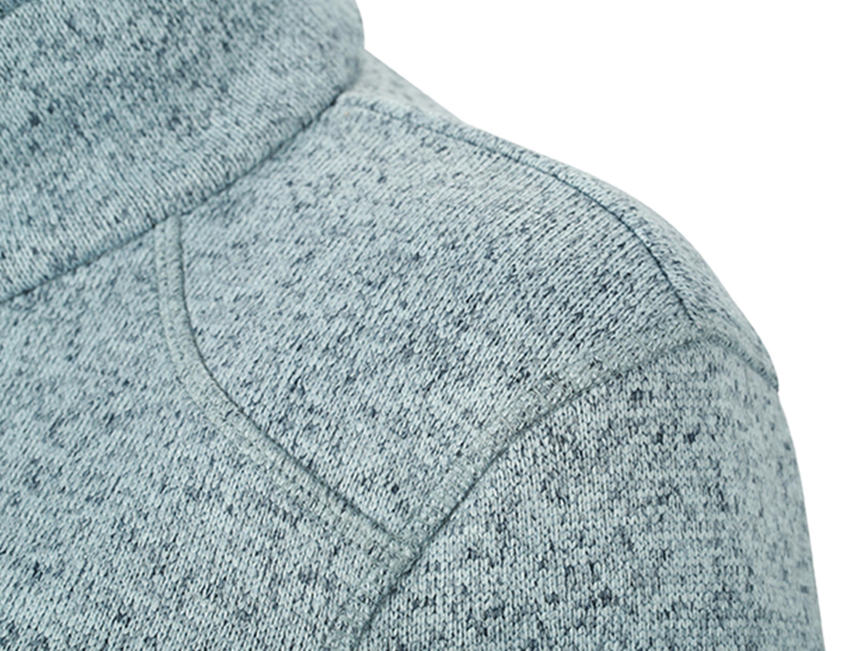Veste en polaire tricotée pour hommes