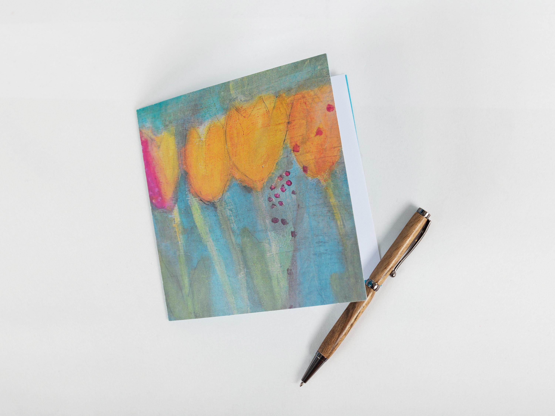 Carte tulipes printanières