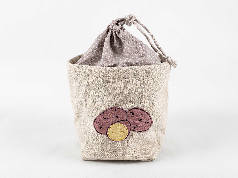 Corbeille pour pommes de terre en robe des champs